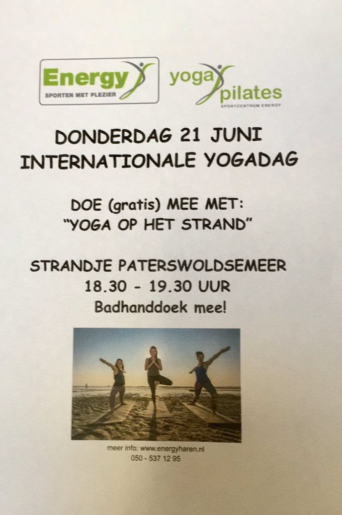 Sportcentrum Energy - internationale yogadag